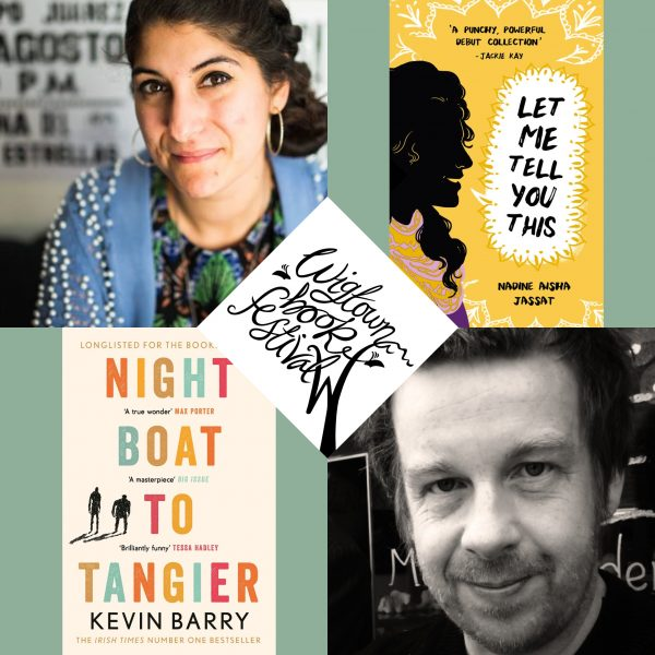 Podcast cover - featuring Kevin Barry and Nadine Aisha Jassat