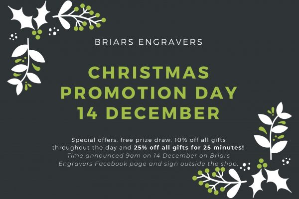 Briars Engravers Promotion Day 1